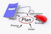 Plannig concept — Stock Photo