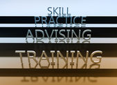 Skill as a background — Stock Photo