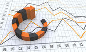 Business process chart with arrows. — Stock Photo