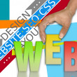 Stock Photo: Web network concept