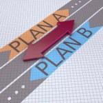 Arrows with plan A plan B  — Stock Photo #25933415