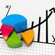 Stock Photo: Financial business chart and graphs