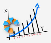 Financial business chart and graphs — Stockfoto