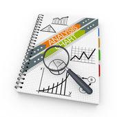 Concetto di analisi del notebook — Foto Stock