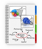 Writing an action plan — Stock Photo