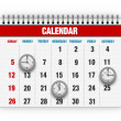 Stock Photo: Clock face and calendar composite