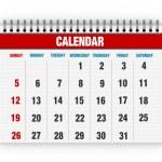 Blank calendar — Stock Photo #28501291