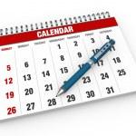 Blank calendar — Stock Photo #28501313