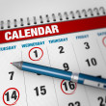 Página calendario Closeup — Foto de Stock