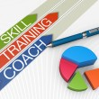 Skill training concept — Stock Photo
