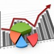 Business graph growth — Stock Photo