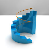 Business growth bar graph — Stock Photo