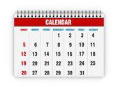 Calendario bianco — Foto Stock