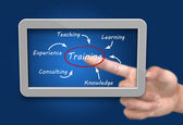 Tablet pc training concept — Stock Photo