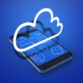 Cloud devices concept — Stock Photo