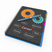 Notepad career concept — Stock Photo