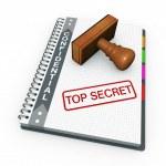 Top secret concept — Stock Photo