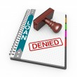 Denied as concept — Stock Photo