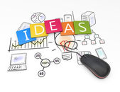 Ideas as concept — Stock Photo