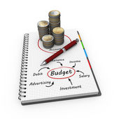 Budget as concept — Stock Photo