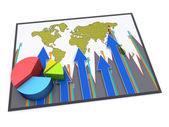 Report charts — Stock Photo