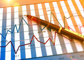 Диаграмма концепции рынка — Стоковое фото