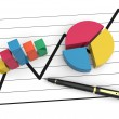 Financial business chart and graphs — Stock Photo