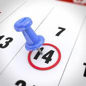 Calendar and pushpin — Foto Stock