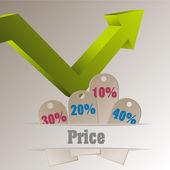 Sprzedaż tagi — Wektor stockowy