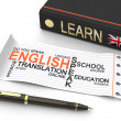 Learn english concept — Stock Photo #50566341