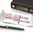 Learn english concept — Stock Photo