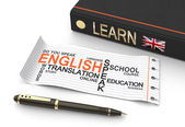 Learn english concept  — Stockfoto