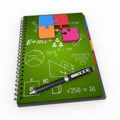 Notepad training concept  — Стоковое фото