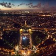 Panoramic view of Paris, France taken from the Eiffel Tower - in High Resolution — Stock Photo #44389285