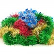 New Year or Christmas tinsel. — Stock Photo