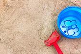 Children's toys in the sandbox. — Stockfoto