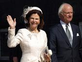 Queen Silvia and King Gustaf of Sweden — Stock Photo