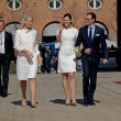 Princess Mette-Marit, Princess Victoria and Prince Daniel — Stock Photo