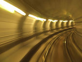 Metro tunnel blur — Stock Photo