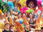 Participantes en el Carnaval 2012 de Copenhague — Foto de Stock