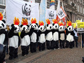 UN Climate Change Conference Demonstration in Copenhagen — Stock Photo
