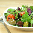 Mixed baby green salad - Stock fotografie