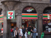 7 eleven corner store copenhagen — Stock Photo