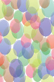 Many-colored ballons in seamless pattern — Stock Vector