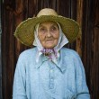 Very old woman from the village — Stock Photo