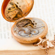 Open vintage pocket watch — ストック写真