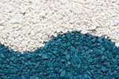 White and blue stones sand — Stock Photo