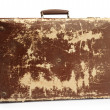 Old brown suitcase — Stock Photo