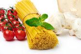 Spaghetti with ingridients — Stock Photo