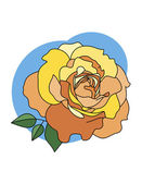 Yellow rose — Vector de stock